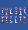 lighthouse beacon searchlight ship navigation vector image