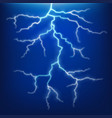 lighting and thunder on blue sky vector image
