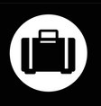 luggage bag icon design vector image