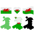 map of Wales vector image vector image