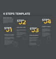 modern progress four steps template vector image vector image