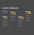modern progress four steps template vector image