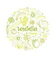 organic food design template fresh green vector image