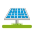 panel solar isolated icon vector image