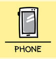 phone hand-drawn style vector image