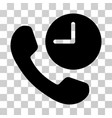 phone time icon vector image