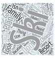 planning a family ski vacation Word Cloud Concept vector image vector image