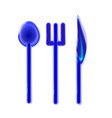plastic set toy realistic tablewares rounded blue vector image