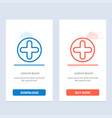 plus sign hospital medical blue and red download vector image vector image