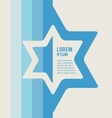 poster of jewish sign of david star with place for vector image vector image