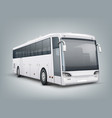 realistic one passenger bus vector image vector image