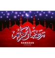 Red pattern with mosques on stained glass vector image