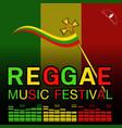 reggae music festival poster vector image