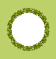 round frame leaves vector image