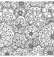 seamless floral pattern hand drawn flowers vector image vector image