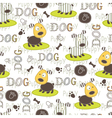 seamless pattern with dog 5 vector image