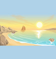 seascape bay sunset vector image