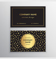 set of business card templates with gold vector image vector image