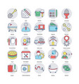 set of home services flat icons vector image vector image