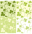 Set of seamless patterns from clover leaves vector image vector image