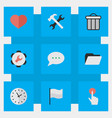 set simple ui icons vector image vector image
