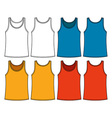 Singlets template vector image vector image