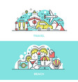 summer travel and tropical beach banner template vector image