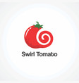 swirl tomato logo icon element and template vector image