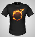 t shirts Black Fire Print man 02 vector image vector image