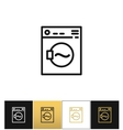 Washing machine sign or laundry rotating washer vector image
