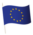 waving flag on a flagpole national vector image vector image