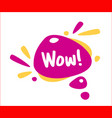 wow bubble talk phrases hand drawn doodle speech vector image