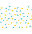 yellow blue colorful abstract triangles retro vector image vector image