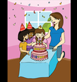 Family birthday party vector image