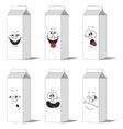 Set smiling paper packs 013 vector image