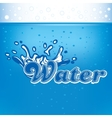 banner for advertisement with drops of water and vector image