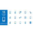 15 communicator icons vector image vector image