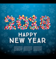 2018 happy new year greeting card with flying vector image vector image