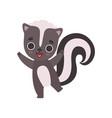 adorable little skunk baanimal cartoon vector image vector image