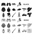 African safari black icons in set collection for