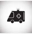 ambulance vehicle white on background vector image vector image
