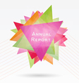 Background with Triangles and Lines Annual Report vector image