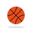 basketball ball orange ball with black lines vector image