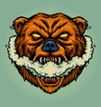 bear smoking vape grizzly vector image vector image