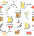 beverage summer theme seamless pattern for vector image vector image