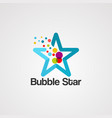 bubble colorful star logo icon element and vector image