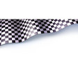 checkered flag for car race or motorsport rally vector image vector image