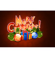Christmas Greeting Card Template with Decorations