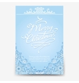 Christmas poster with snowflake divider vector image vector image