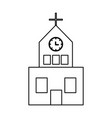 church building icon vector image vector image
